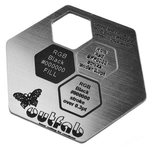 "Two Color Silver/Black Acrylic</h1><p>thickness ≈ 1/16""<p>includes laser cutting, material, & US shipping</p>"