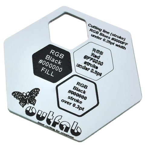 "Two Color White/Black Acrylic</h1><p>thickness ≈ 1/16""<p>includes laser cutting, material, & US shipping</p>"