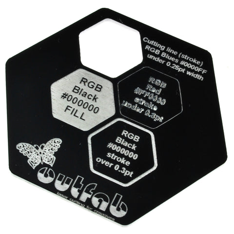 "Two Color Black/White Acrylic</h1><p>thickness ≈ 1/16""<p>includes laser cutting, material, & US shipping</p>"