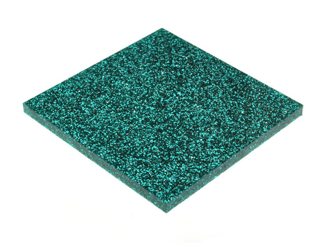 "Glitter Ice Blue Acrylic</h1><p>thickness ≈ 1/8""<p>includes laser cutting, material, & US shipping</p>"
