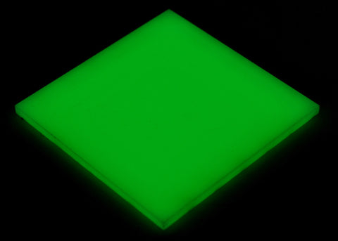 "Solid Glow-in-the-Dark Acrylic</h1><p>thickness ≈ 1/8""<p>includes laser cutting, material, & US shipping</p>"