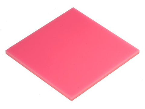 "Solid Neon Pink Acrylic</h1><p>thickness ≈ 1/8""<p>includes laser cutting, material, & US shipping</p>"