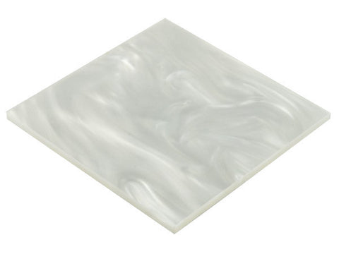 "Pearl White Acrylic</h1><p>thickness ≈ 1/8""<p>includes laser cutting, material, & US shipping</p>"