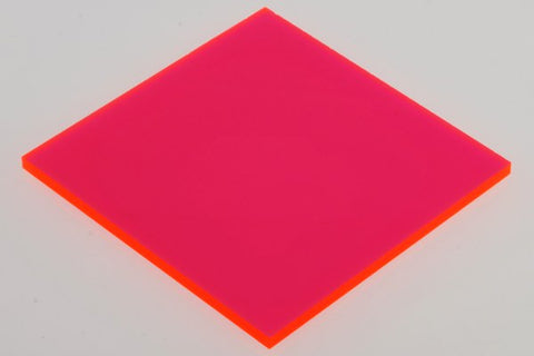 "Transparent Fluorescent Pink Acrylic</h1><p>thickness ≈ 1/8""<p>includes laser cutting, material, & US shipping</p>"