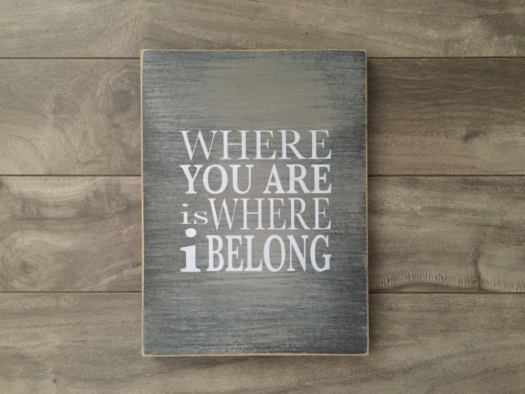 "Stock - Where you are sign 8""x10"""