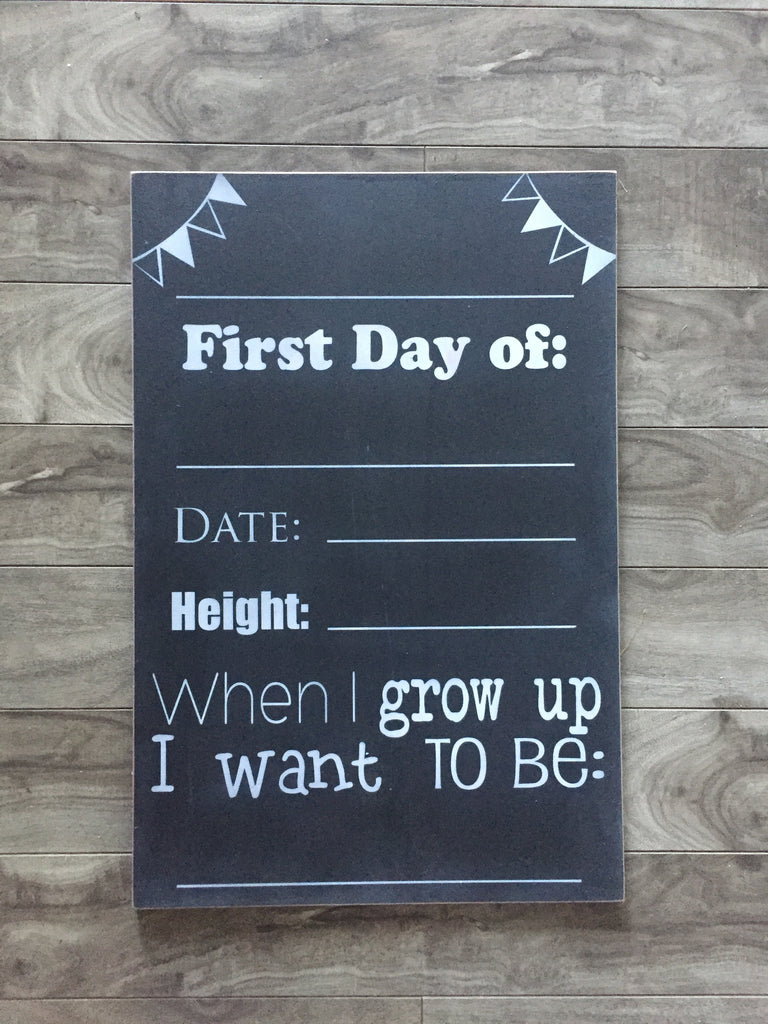 "Stock - 12""x18""  or 9""x14"" chalkboard"