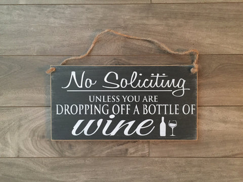 "Stock - No soliciting sign 5""x10"""