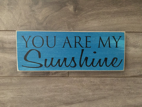 "Stock - Small You are my sunshine 3""x8"""