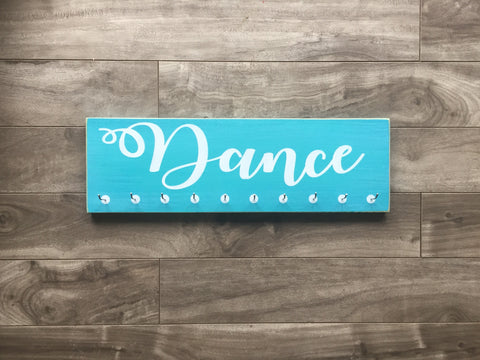 "Dance medal hanger  - 5"" x 16"" - MDF - with 10 hangers"
