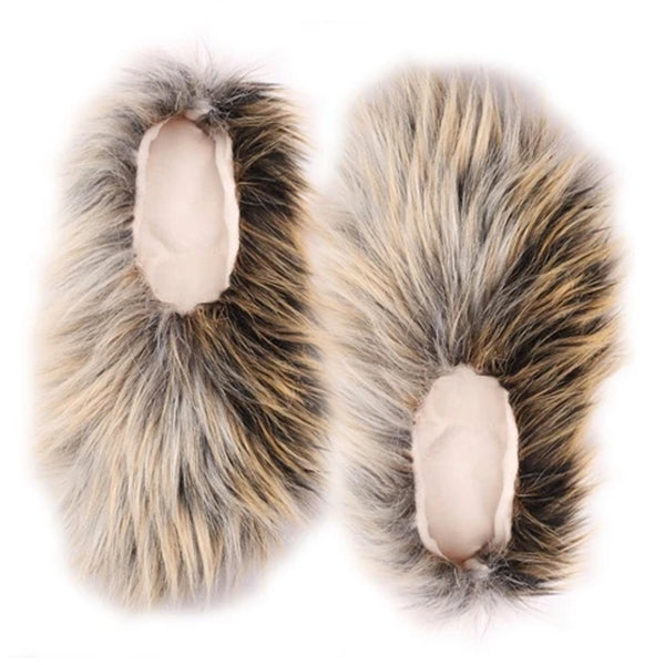 FAUX FUR BALLERINAS