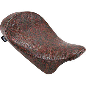DRAG - EZ-ON MOUNT LOW PROFILE SOLO SEAT - RED FAUX PYTHON - '08-'20 TOURING