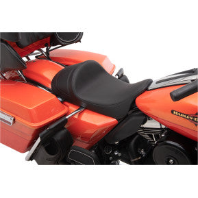 DRAG - EZ-ON MOUNT FORWARD LOW SOLO SEAT - SMOOTH, SOLAR REFLECTIVE LEATHER - '08-'20 TOURING