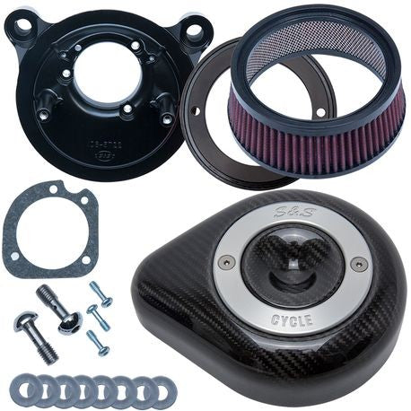 S&S Cycle Stealth Air Cleaner Kit With Carbon Fiber Teardrop for 2001-'17 Twin Cam Models