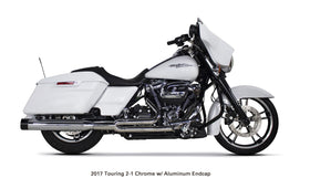 TBR (2017-20 Milwaukee Eight) Comp-S 2-1 Chrome w/ Black Endcap Full System - Touring