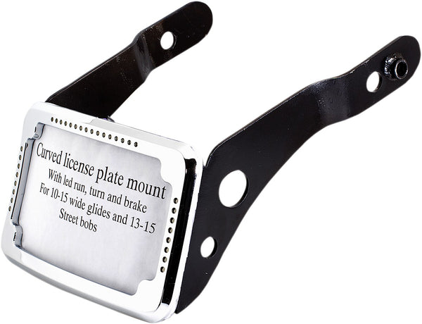 Cycle Visions FXDB/FXDLS Rear License Plate Frame and Mount with LED's