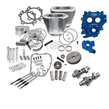 "S&S Cycle - 110"" Power Package for HD® Twin Cam 96™, 103™ Models with 585 Easy Start® Gear Drive Cams - Silver"
