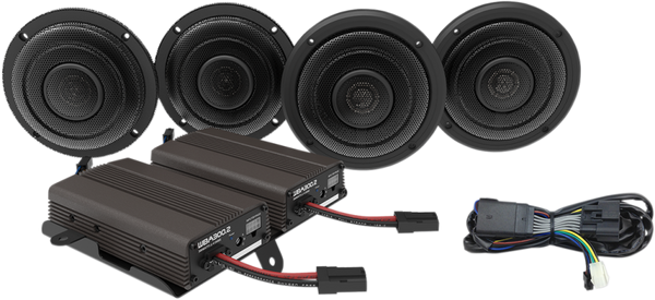 Wild Boar Front and Rear Speaker Kit with 600-Watt Amp