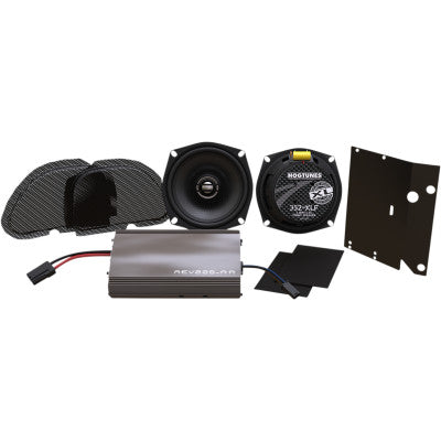 Hogtunes XL Amplified Front Speakers Complete Kit - FLTR