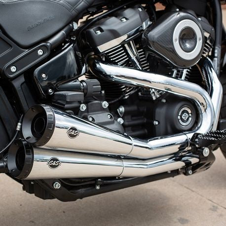 S&S Cycle - Grand National® 2-2 50 State Exhaust System for 2018-19 HD® Softail® Fat Bob® M8 Models