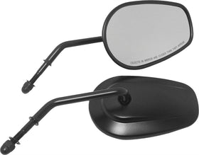 OEM Style Tapered Short Stem Mirrors - Black