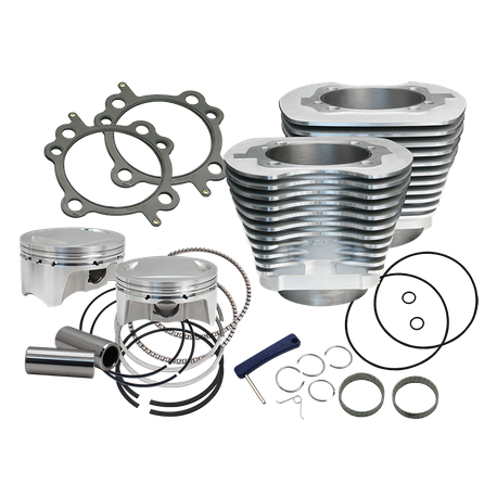 "S&S Cycle - 107"" Bolt-In Big Bore Kit for 2007-'17 HD® Big Twins (except '17 touring) - Silver Finish"