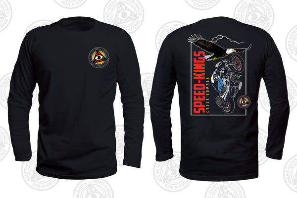 "Speed-Kings Cycle ""Eagle"" Long Sleeved T-shirt"