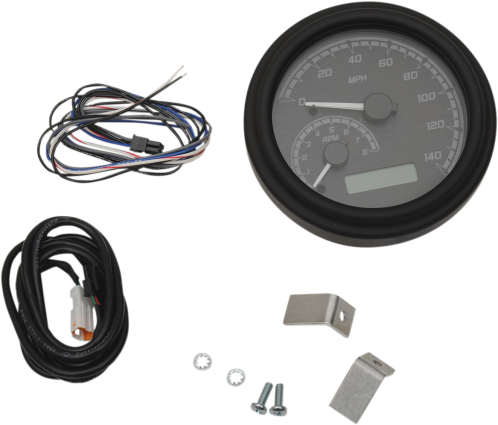 "Dakota Digital 4-5/8"" Tank Gauge System - Black/Gray/Black Trim"