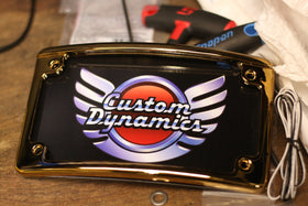 Custom Dynamics Radius LED License Plate Frame - Gold