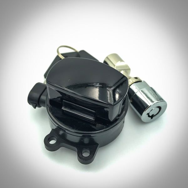 Black Side Hinge Ignition Switch with Neck Lock