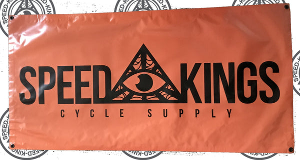 """Speed-Kings"" Garage Banner"