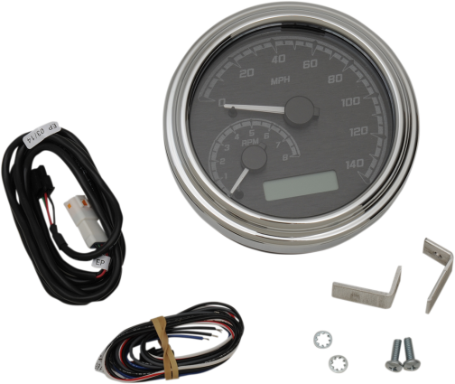 "Dakota Digital 4-5/8"" Tank Gauge System - Black/Gray/Chrome Trim"