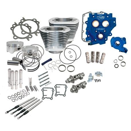 "S&S Cycle - 110"" Power Package for HD® Twin Cam 96™, 103™ Models with 585 Easy Start® Chain Drive Cams - Silver"
