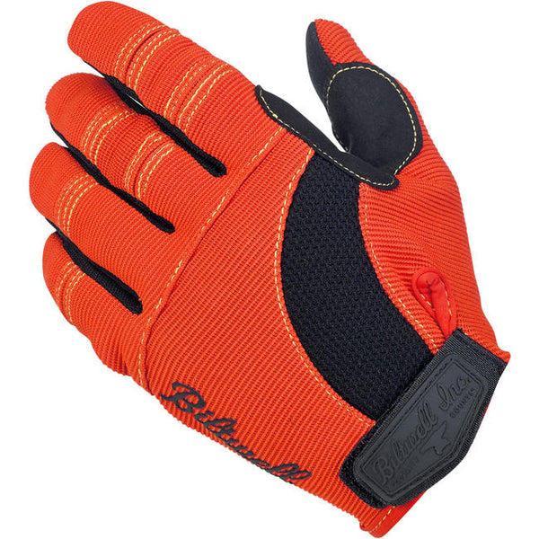 Biltwell Inc. Moto Gloves - Orange/Black/Yellow