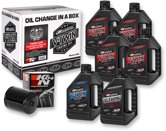 Maxima Racing Oil Change Kit - Twin Cam - Synthetic