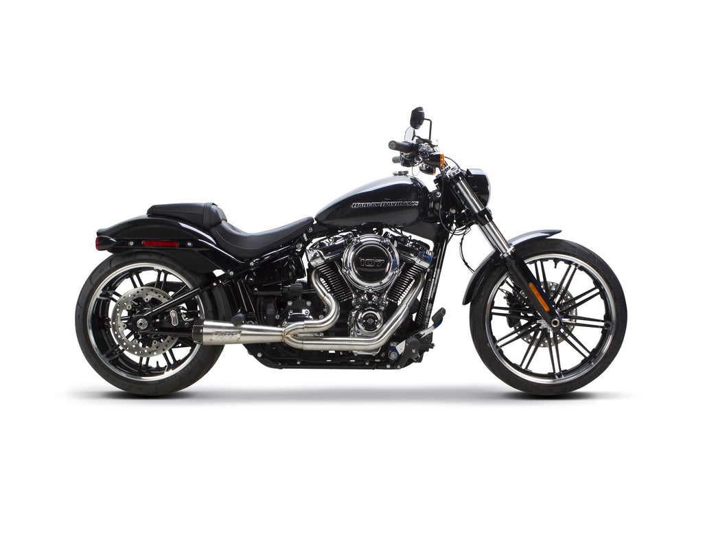 TBR Harley Davidson Softail (2018-2020) Comp-S 2-1 Polished - Fatboy and Breakout Model