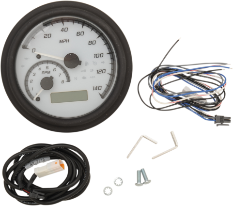 "Dakota Digital 4-5/8"" Tank Gauge System - White/Gray/Black Trim"