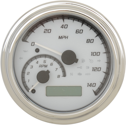 "Dakota Digital 4-5/8"" Tank Gauge System - White/Gray/Chrome Trim"
