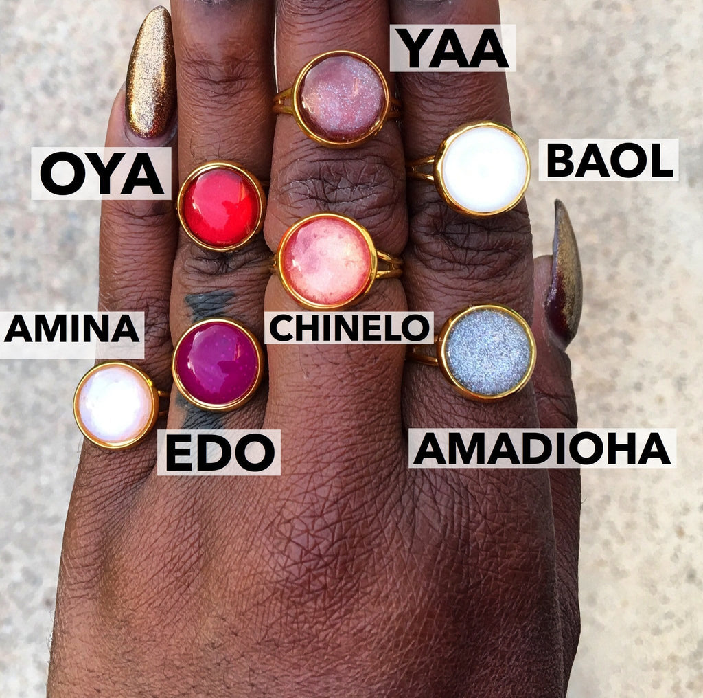 Oya Gold Moon Ring - OOO Polish