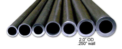 1.5 in ID - 2.0 in OD .250 in wall DOM -  DOM Tubing - Ballistic Fabrication