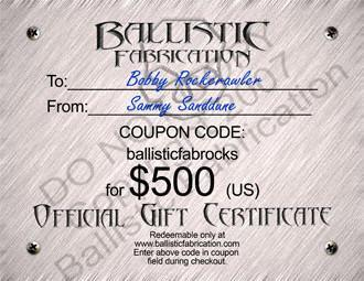 Ballistic Gift Certificate -  Miscellaneous,Swag - Ballistic Fabrication
