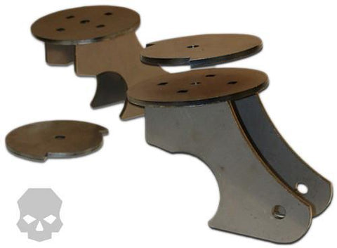 Axle Link / Coil Mount Brackets (Pair) - Ballistic Fabrication