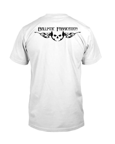 White Ballistic Fab T-Shirt -  Swag - Ballistic Fabrication