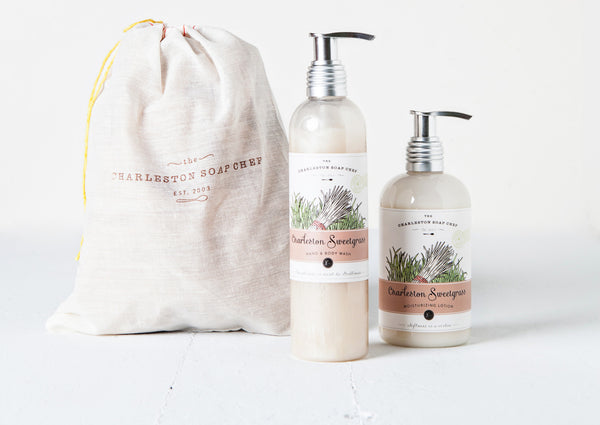 Charleston Sweetgrass Moisturizing Lotion and Hand & Body Wash Gift Set
