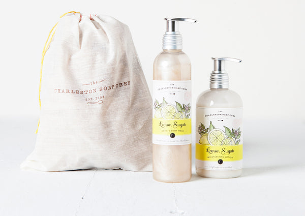 Lemon Sugah Moisturizing Lotion and Hand & Body Wash Gift Set