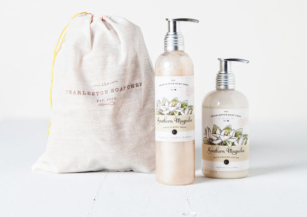 Southern Magnolia Moisturizing Lotion and Hand & Body Wash Gift Set