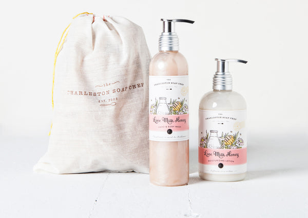 Love Milk Honey Moisturizing Lotion and Hand & Body Wash Gift Set