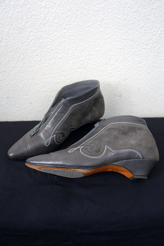 Womens Grey Western Ankle Boots 7.5