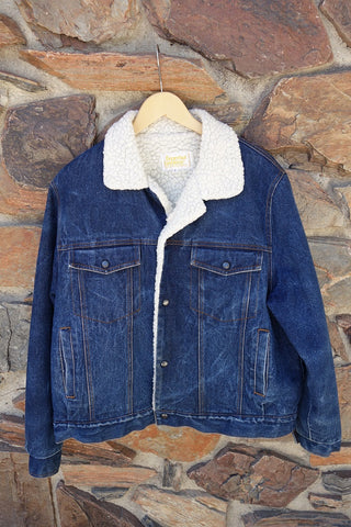 Vintage Fur Lined Denim Jacket