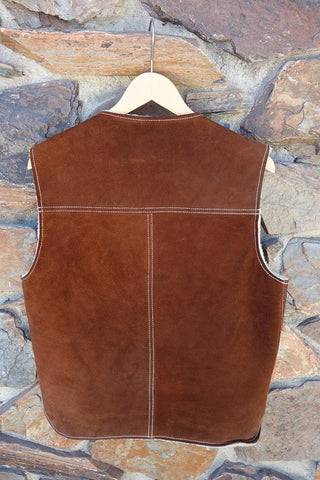 Vintage Fur Lined Leather Vest