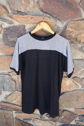 Black & Grey Ringer Tee